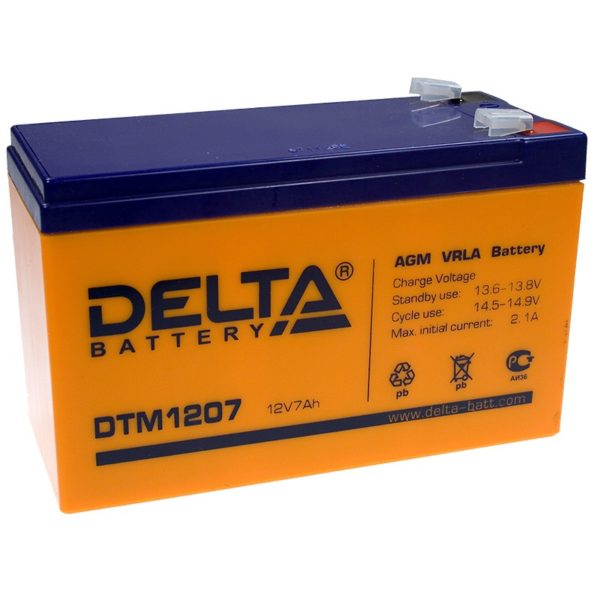 Аккумуляторная батарея АКБ DTM 1207